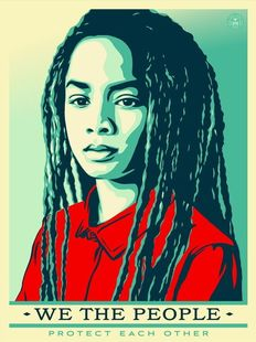 Shepard Fairey (OBEY) - We the People - Protect Eachother