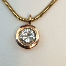 Necklace with pendant - 0.50 ct.