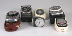 Lot of 6 different exposure meters