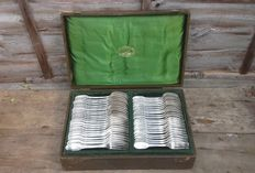 Christofle cutlery set in original box, France, 1900s