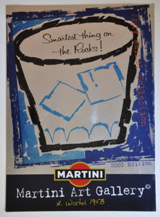 Andy Warhol  Martini advertising aluminum sign