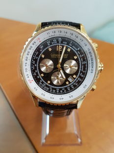 CALVANEO 1583 defcon – chronograph with 8 single diamonds and certificate - Men's watch, never worn