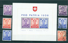 Switzerland – Batch of blocks and stamps from 1936-1950 and 1990-2000