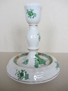 Herend porcelain - candle stick or lamp Chinese bouquet green