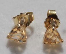 14 kt gold earrings with citrine – Measurements: