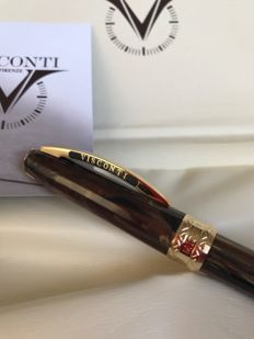 Visconti Michelangelo Ballpoint Pen Imperial Brown (Rarity)