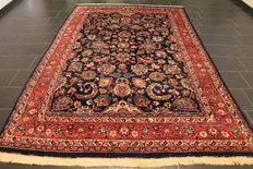 Antique hand-knotted Art Nouveau Persian palace rug, Mashhad, 205 x 320 cm, made in Iran, signed by the weaver