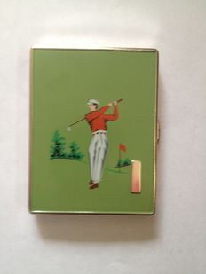 1950s acigarette case and matching lighter
