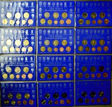 "Europe - Coinsets 2002 'First Euro coins"" (12 pieces) complete"
