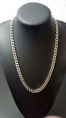925 silver curb link necklace - 60 cm