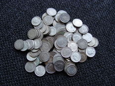 The Netherlands – 10 cents, up to 1944, Wilhelmina (100 pieces) – silver