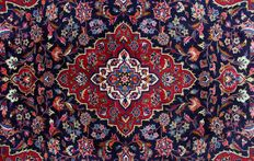 Splendid genuine  KESHAN Lachek Torange Floral from Iran, approximately: 297x200cm, up to 300,000 knots/m², EXCELLENT state with certificate of authenticity.