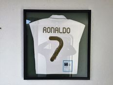 Signed Cristiano Ronaldo Real Madrid 2016/17 Framed Shirt - Deluxe official COA