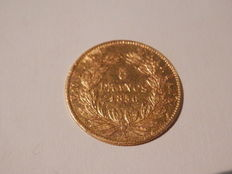 "France – 5 Francs ""Napoleon III"" 1856-A, Paris – gold"