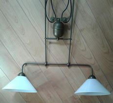 Lovely large antique pendant hanging lamp, second half 20th century