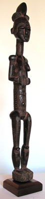 Highly expressive and rare female figure  - Koulango - Ivory Coast