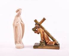 Christ sculptures - Lime - Early 20th century - Engraved déposé - 1 Maucci sculpture
