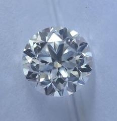 0.50CT D/VVS1 GIA Certified round brilliant cut diamond - Laser inscribed.