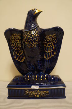 Grand Armagnac Janneau X.O. Blue Eagle Limoges Decanter