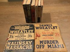 Dennis Wheatley - Lot of 8 first and early edition thrillers - 8 volumes - 1936/1956