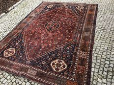 Old IRAN SHIRAZ RUG 315x220 Hand knotted