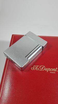 S.T. Lighter Dupont in Brushed Steel