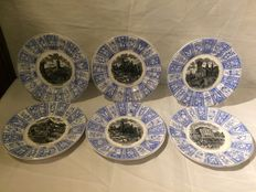 Villeroy boch - 6 plates with images of cities (nursing plates)