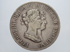 Principality of Lucca and Piombino - 5 Francs 1807, silver.