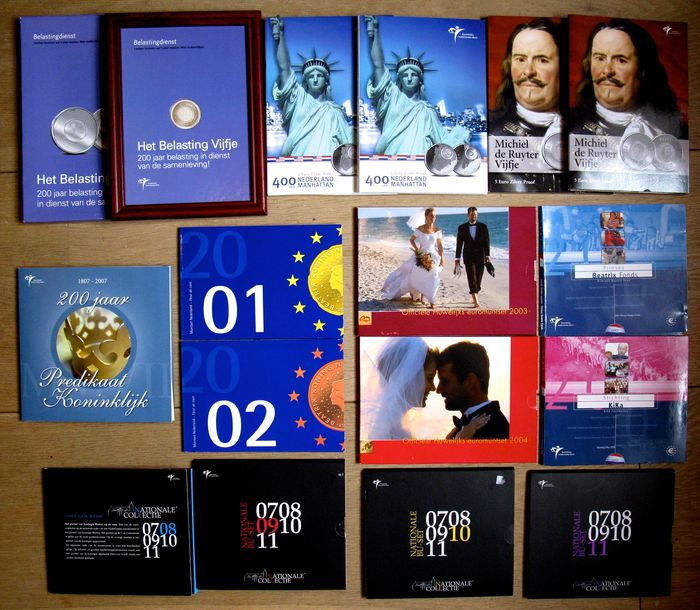 The Netherlands – Year packs 2001/2011 (14 different ones), including 4 x silver
