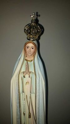 Beautiful large Statue of  Our Lady. Second half 20th Century
