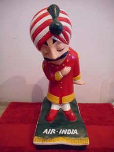 Air India mascot in resin 30 cm 1960