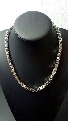 925 Silver Venetian link necklace, length: 52 cm, weight: 122 grams