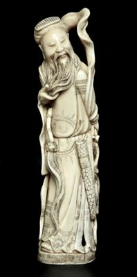 Ivory Figure of an Immortal -  China - 19th century