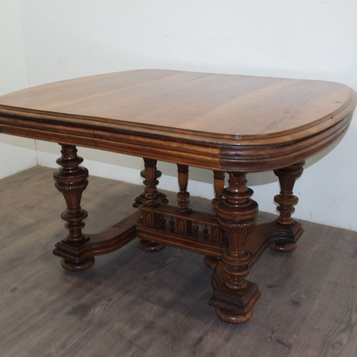 19th Century Antique French Renaissance Henry II Style Walnut Table