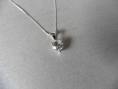 Platinum Diamond Pendant and Gold Necklace - 0.50ct  J, I1