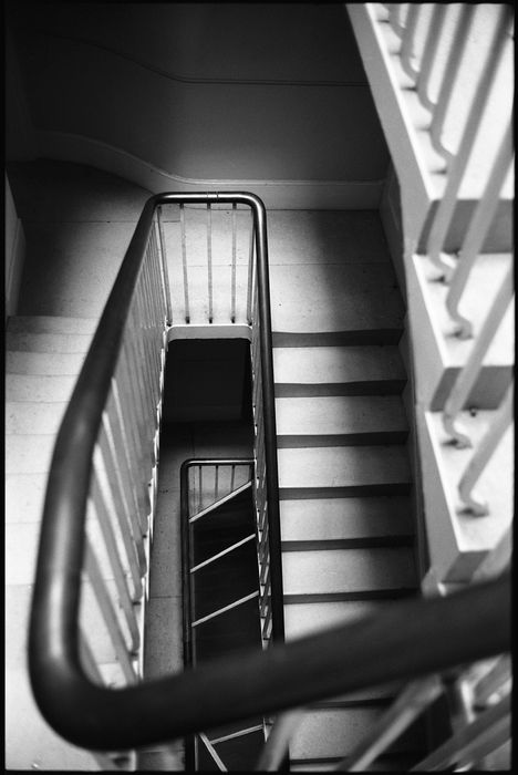 Paul Cooklin (1971-) - 'Staircase, Geometry, Light & Shadow, Wimpole Estate'