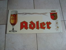 Metal sign for Adler - Haacht Brewery - 1972