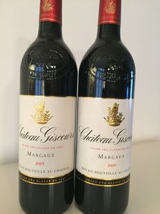 2005-Chateau Giscours-Margaux-2 bottles