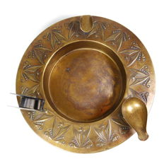 Art Nouveau copper ashtray