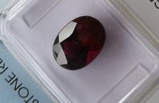 Rhodolite garnet - purple/red - 3.37 ct.