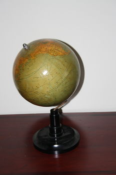 Globe on Bakelite pedestal