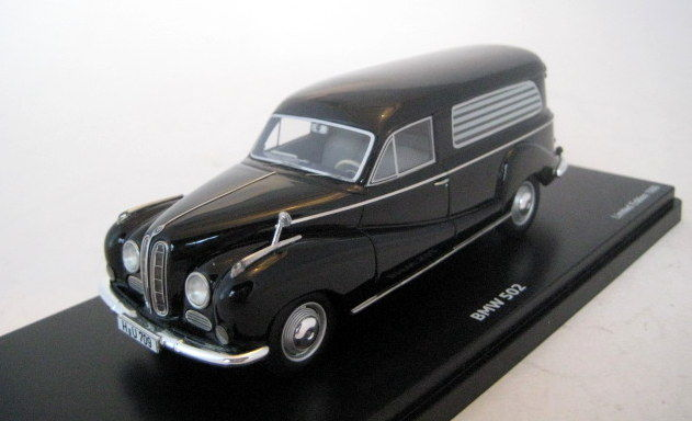 Schuco PRO.R43 - Scale 1/43 - BMW 502 with Begrafenisauto / Hearse