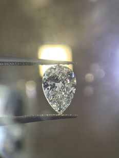 1.00ct Pear Brilliant Diamond D SI1  EGL USA -serial#793-Best online Price Guarantee.