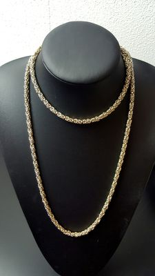 925 Silver Byzantine necklace, length: 100 cm, weight: 91.1gr