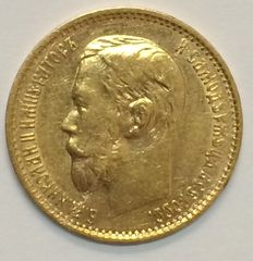 Russia - 5 Rouble 1899 - Gold