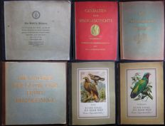 Picture card albums; Lot with 6 German cigarette albums - 30/40s