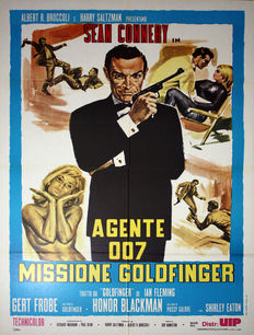 James Bond Goldfinger - Original Italian movie poster - James Bond 007 Goldfinger - 100 x 140 cm - Sean Connery