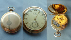 Art deco Zentra pocket watch 30s gold double watch
