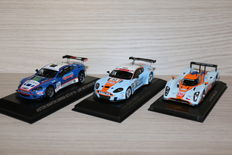 MInichamps / Norev / Ixo Models - Scale 1/43 - Lot with 3 models: 2 x Aston Martin DBRS9 2008 #92 & 2010 #10 & Lola Aston Martin LMP1