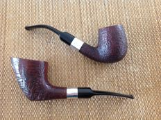 "Lot of two great Savinelli "" Silver "", beautiful blasted briar, impressive !"